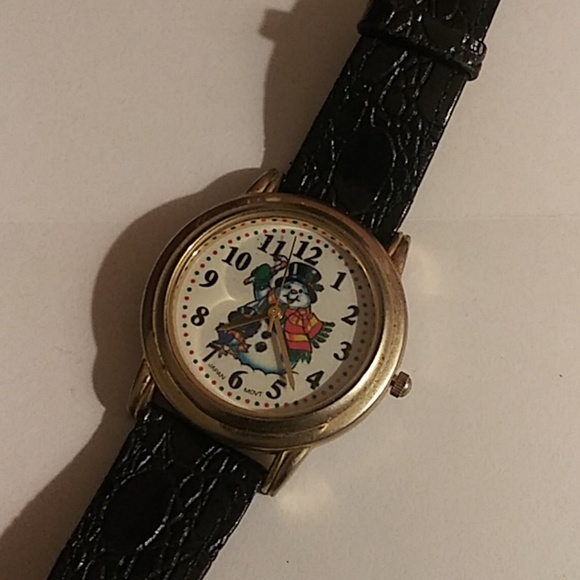 christmas watch black band snowman - Watch Black Christmas